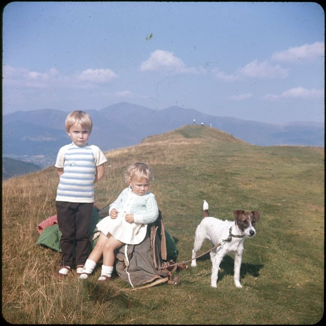 My sister, me and Wags the dog on Catbells