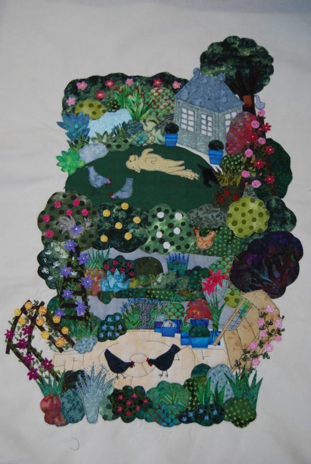 Our garden in stitches