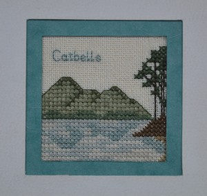 Catbells cross-stitch