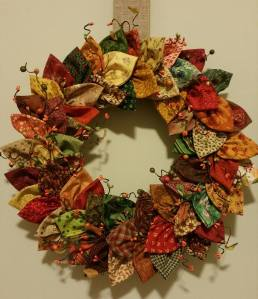 Fabric wreath,