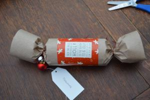 Making Christmas Crackers