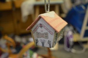 Cross-stitch house
