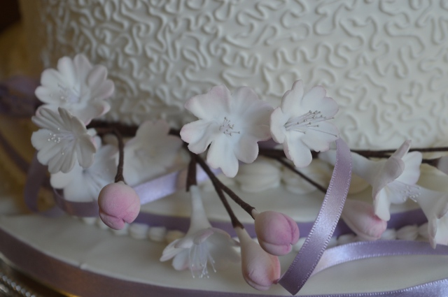 Cherry blossom on Wedding Cake