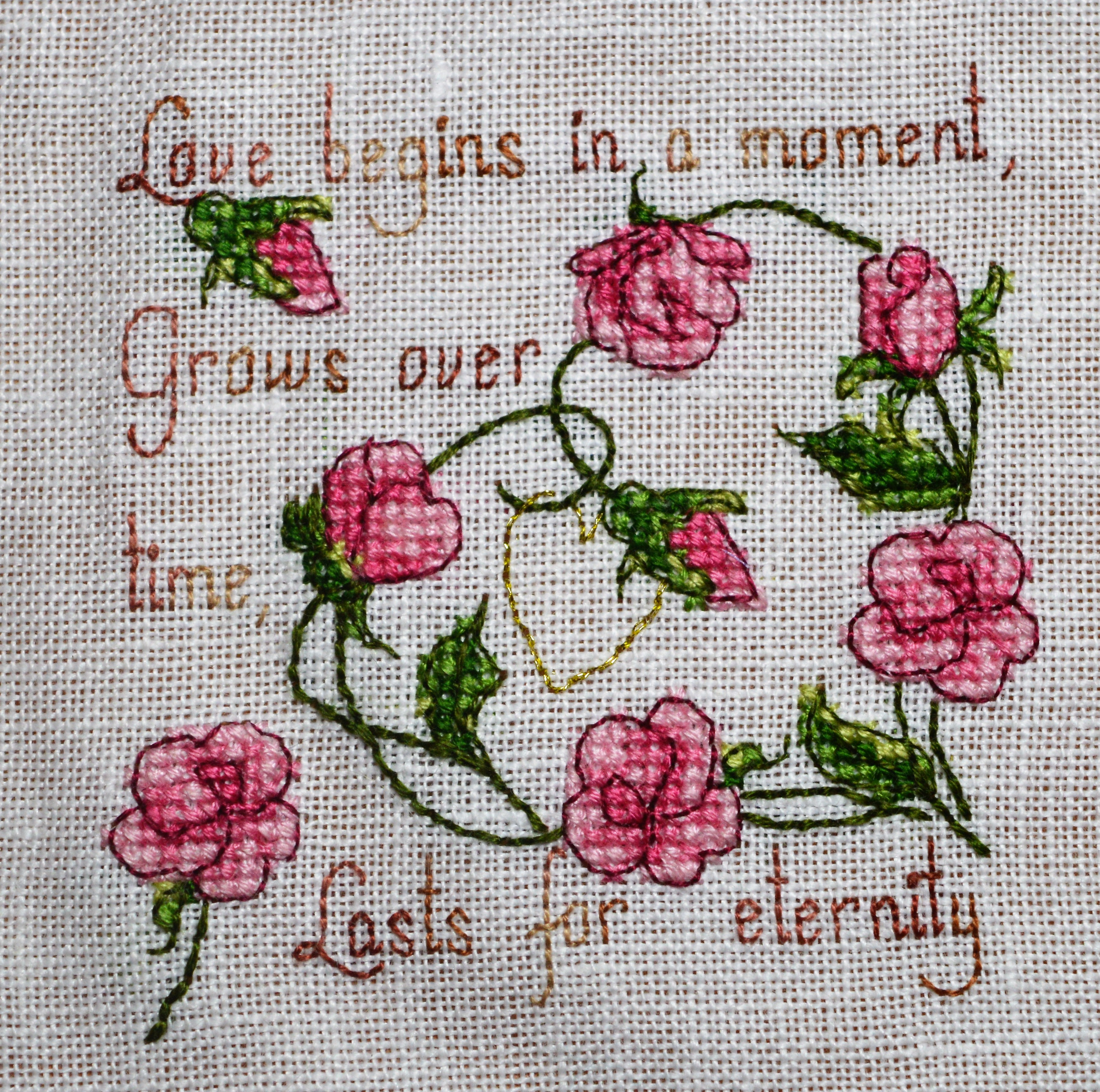 Sweet Roses cross-stich by Faby Reilly