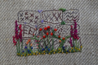 Dry Stone Wall Embroidery