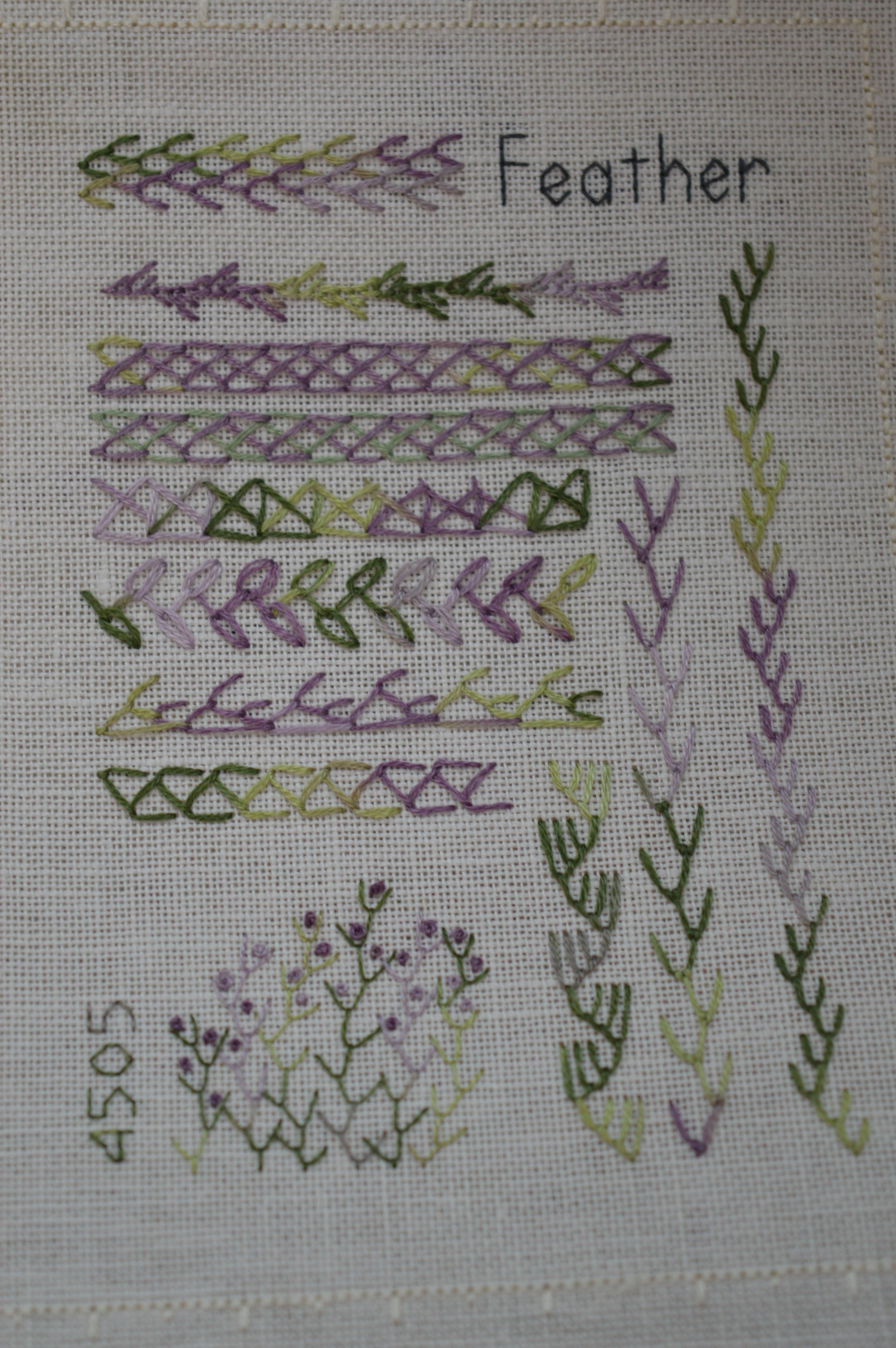 Feather Stitch Sample Thecraftycreek