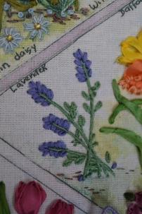 Silk ribbon lavender