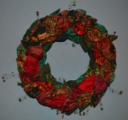 Fabric Christmas Wreath