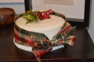 Holly and Tartan Christmas Cake