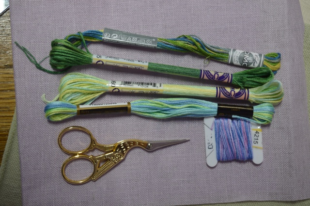 Choosing embroidery threads