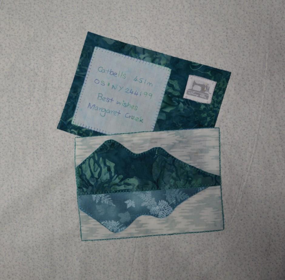 Signed Tealed & Delivered quilt block