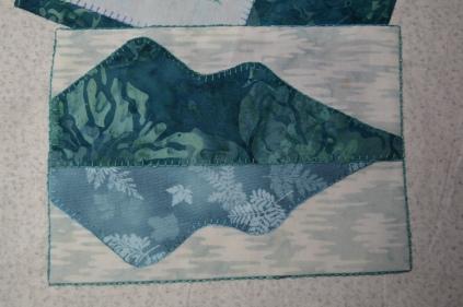 Signed Tealed & Delivered quilt block of Catbells