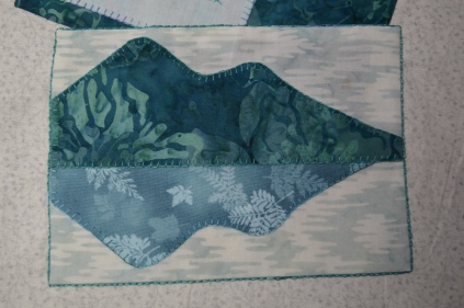 Signed Tealed & Delivered quilt block of Catbells