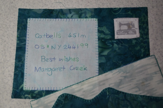 Signed Tealed & Delivered quilt block