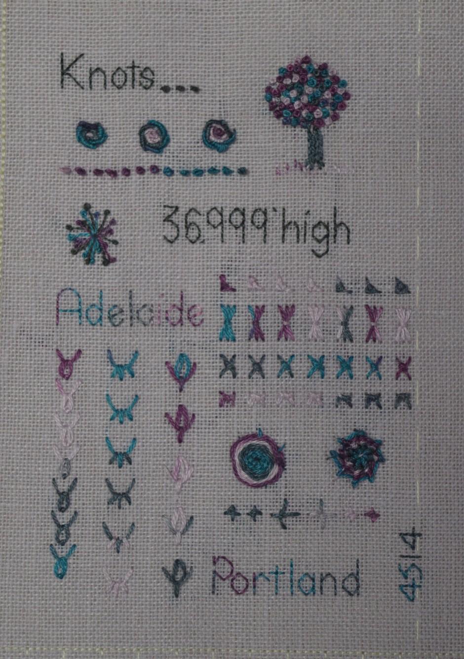 Stitch Sampler Textile Book