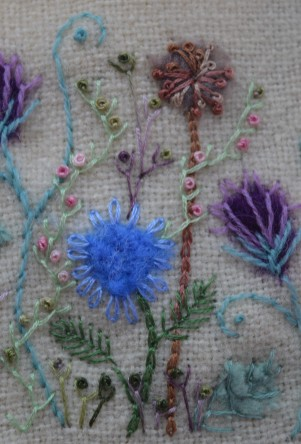 Felt embroidery