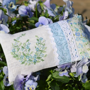 Forget-me-not cross-stitch