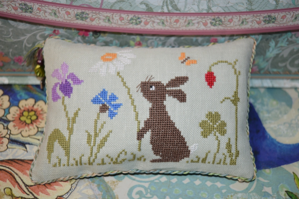 Spring rabbit cross-stitch