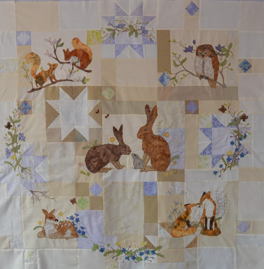 Spring Wreath quilt by Raggedy Ruff Designs