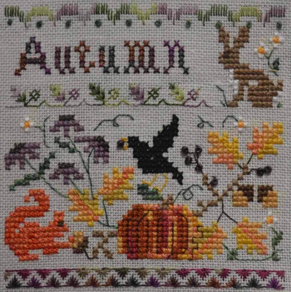 Autumn cross-stitch small