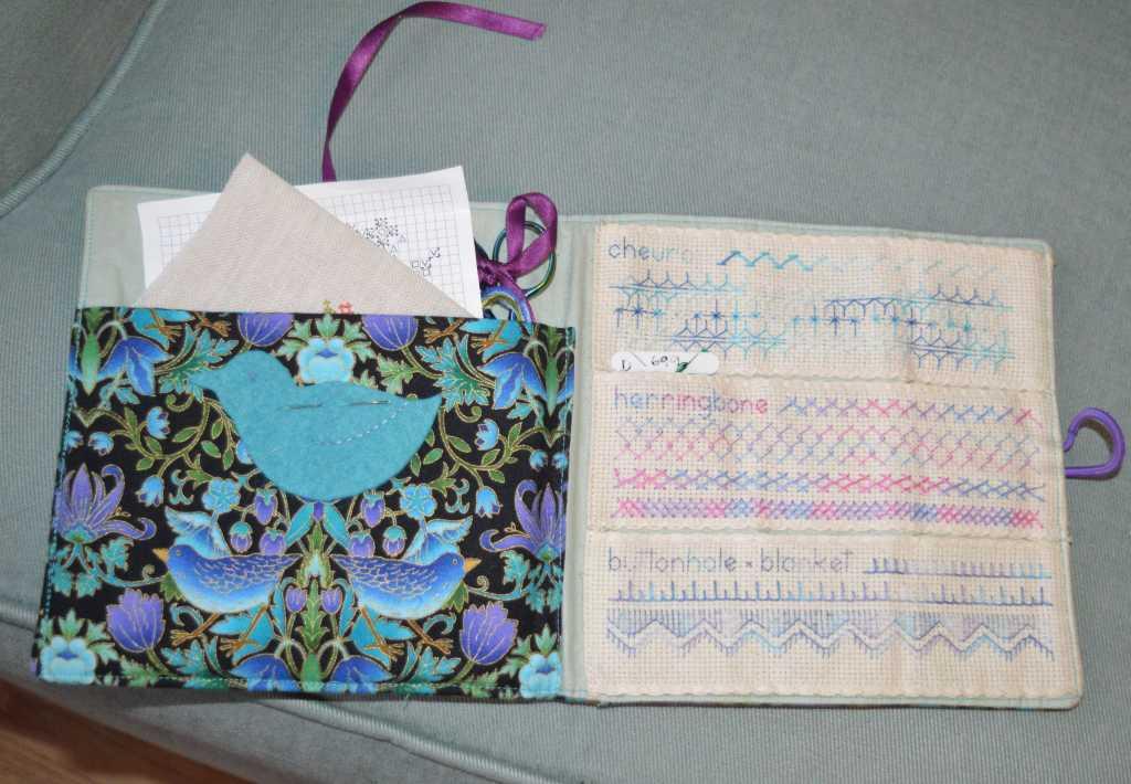 cross-stitch project bag